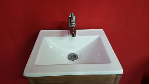 combo vanitory+bacha+griferia monocomando lavatorio+sopapa