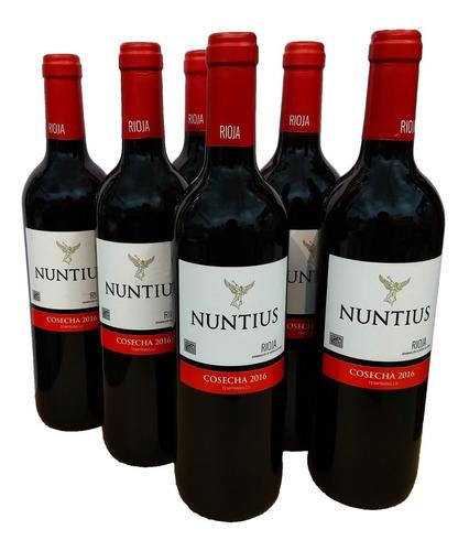 combo vino rioja nuntius 2016 tempranillo caja de 6 botellas