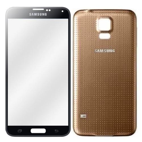 combo visor de pantalla + tapa trasera galaxy s5