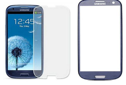 combo visor de pantalla + vidrio templado galaxy s3