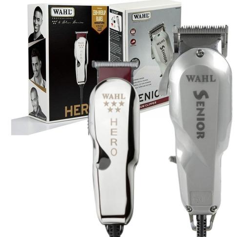 combo wahl edicion limitada trimmer+clipper pro senior hero