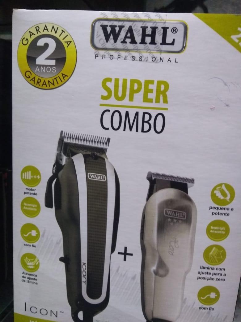 26111dae0 Combo Wahl - Icon + Hero - Escolha Sua Voltagem - R$ 749,00 em ...