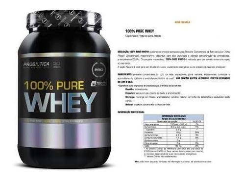 combo whey + bcaa + creatina + dextrose + brinde probiótica