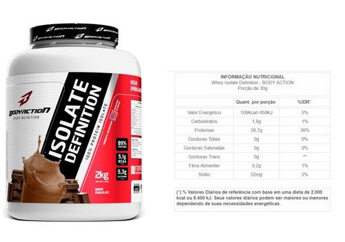 combo whey isolado isolate definition 2kg + bcaa + creatina