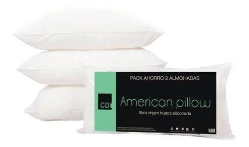 combo x 2 almohadas cdi american pillow vellon 70x40