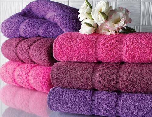 combo x 2 juegos toalla y toallón 550gr 100% algodón colores