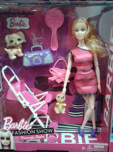 combo x 2 muñecas barbie carrito bebe +  bicicleta - oferta!