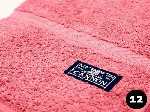 combo x 6 toalla cannon 550gr/m2 100% algodón  hogar y hotel