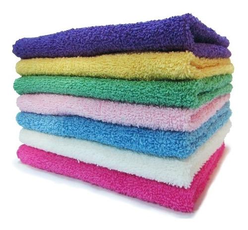 combo x 6 toallas de visita 30x50 cm 100% algodón 550 gr