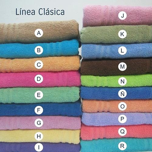 combo x 6 toallas seclar 450gr/m2 100% algodón