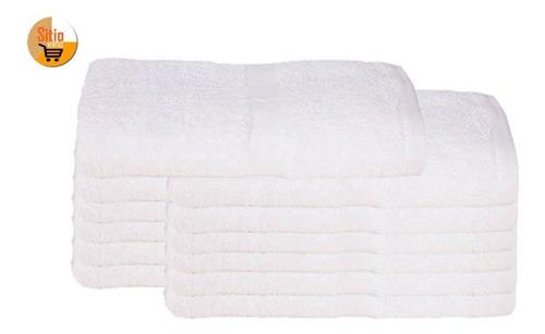 combo x12 toallas en algodon 140x70cm suave cómoda resistent