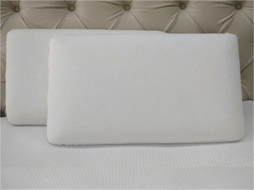 combo x2 almohadas inteligentes sensitive plain 63x35x15