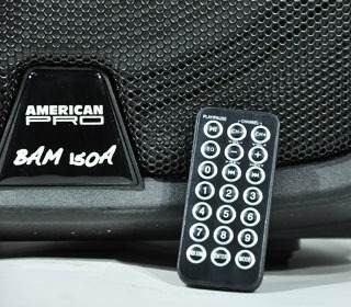 combo x2 bafle potenciado american pro bam 150a bluetooth sd