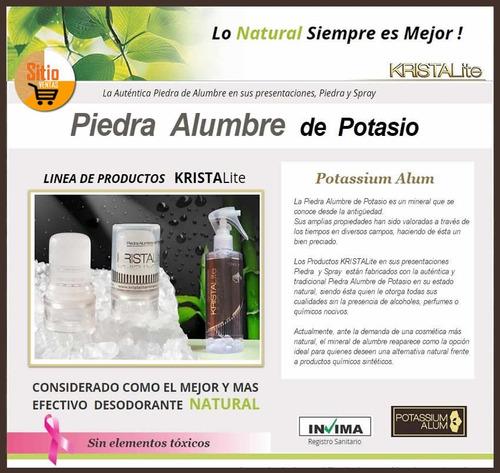 combo x2 desodorante natural de piedra alumbre +tónico spray