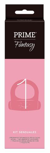 combo x2 kit fantasy 1 prime anillo vibrador preservativos