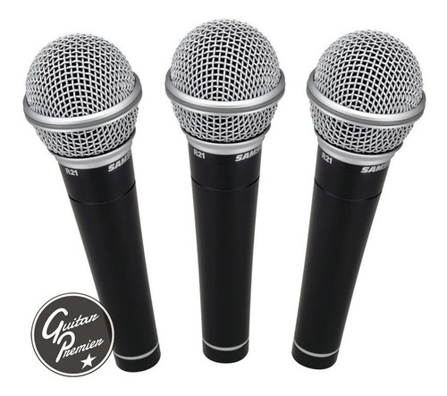 combo x3 microfonos samson r21s + pies + pipetas + cables