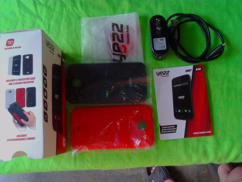 combo yezz andy a4m caja, batería, tapas y cargador original