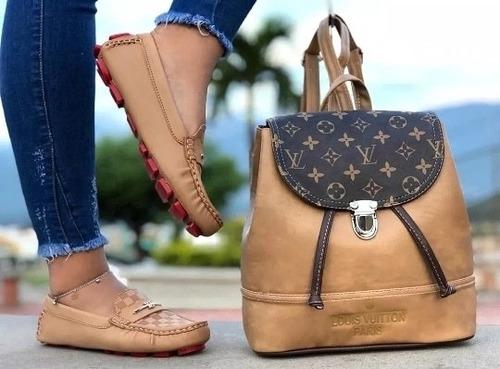 combo zapato  mocasín y bolso para dama 2020