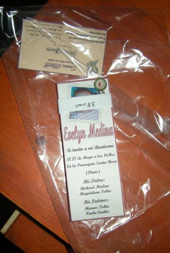 combo1: invitacion + sobre + bolsitas+ souvenirs-p/p
