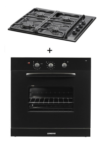 combo71 gas longvie horno h1500g + anafe a6600gf