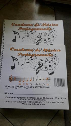 combocuadernos de pre escolar y de musica 1dlrs