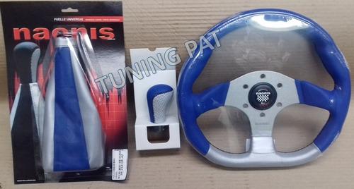 combo/kit deportivo volante + fuelle de pca + perilla