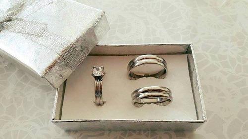 combos de argollas + anillo de compromiso