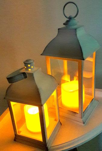 combox2 faroles fanales vela led calido vintage c/ pilas