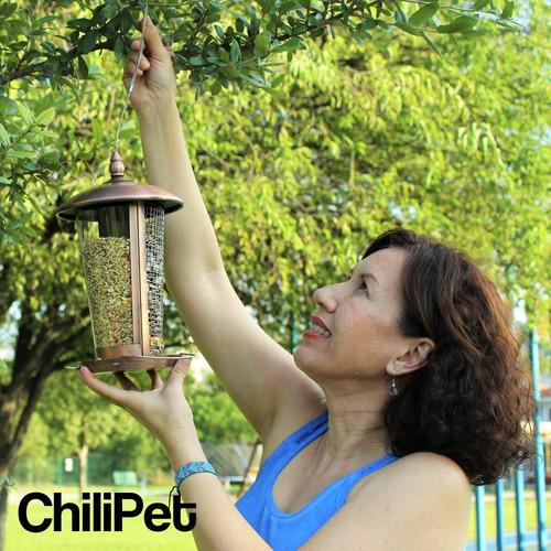 comedero alimentador para aves y pajaros semillas y frutos