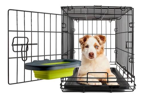 comedero bebedero perro canil transportadora - grande