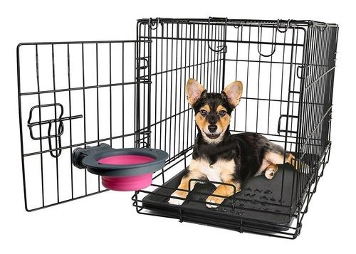 comedero bebedero perro canil transportadora - pequeño