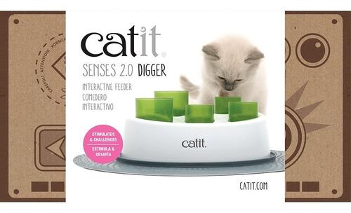 comedero juguete para gatos- digger catit 2.0
