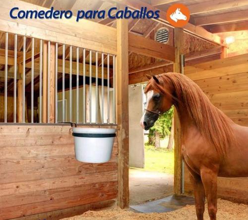 comedero redondo para caballo