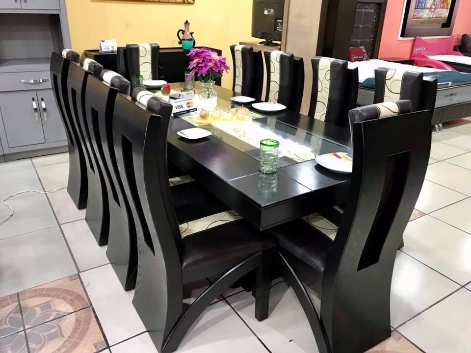Comedor 10 sillas decorado con piedra onix y led for Compra de comedores