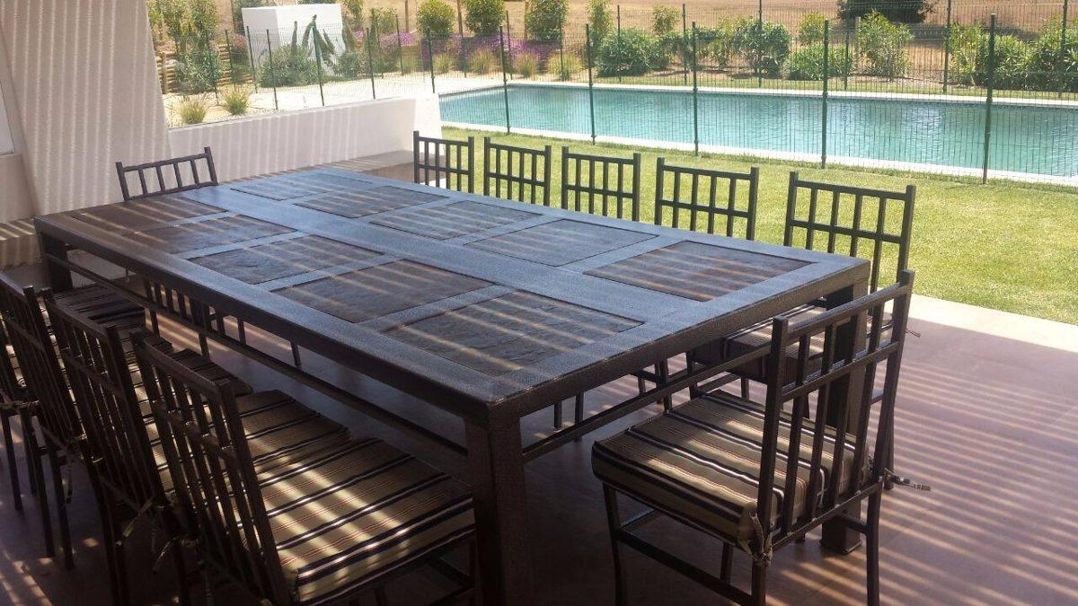 Comedor 12 personas fierro muebles y terraza - Comedor terraza ...