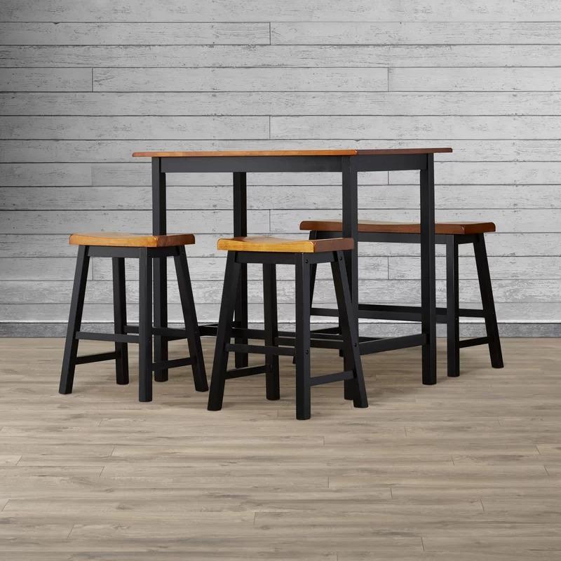 Comedor 4 pz metal madera industrial vintage mesa bancos for Mesa industrial de madera y metal