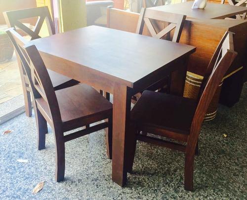 Comedor 4 sillas macizo mesa 100x80 silla mesa oferta for Comedor 10 sillas oferta