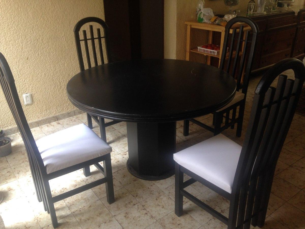 Comedor 4 sillas mesa redonda y cuadrada minimalista - Comedores mesa redonda ...