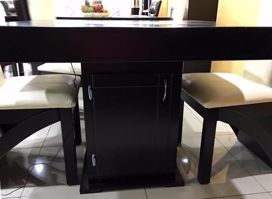 Comedor 4 sillas moderno minimalista decorado de piedra - Comedor moderno minimalista ...