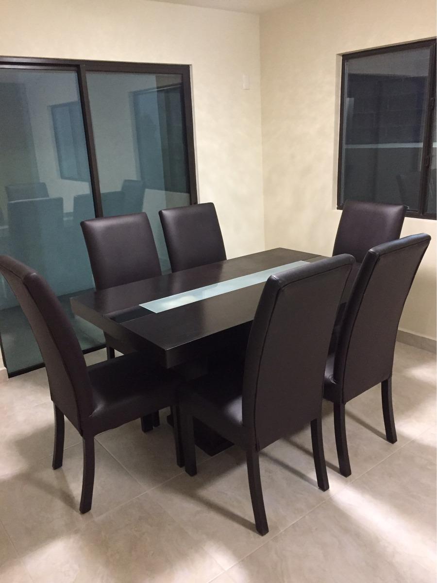 Comedor 6 sillas contempor neo 4 en mercado libre for Comedor 6 sillas usado