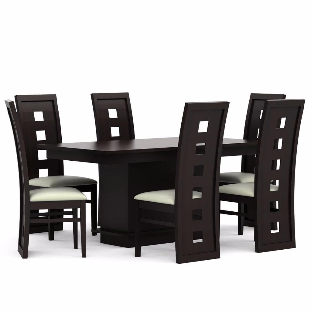Comedor 6 sillas moderno minimalista de madera 5 999 for Mueble comedor minimalista