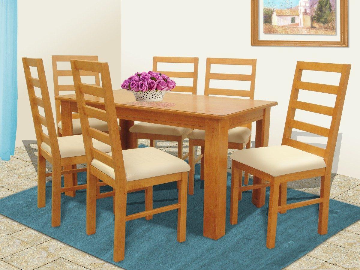 Comedor 6 sillas muebles el angel 7 en mercado for Comedores usados