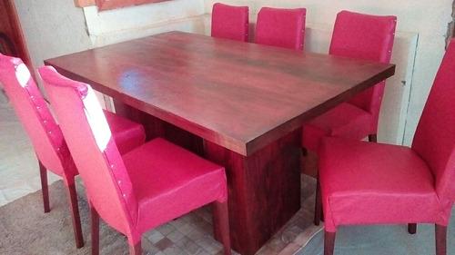 comedor 6 sillas tapizado nuevo $90000