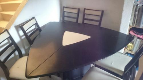 comedor 6 sillas triangular