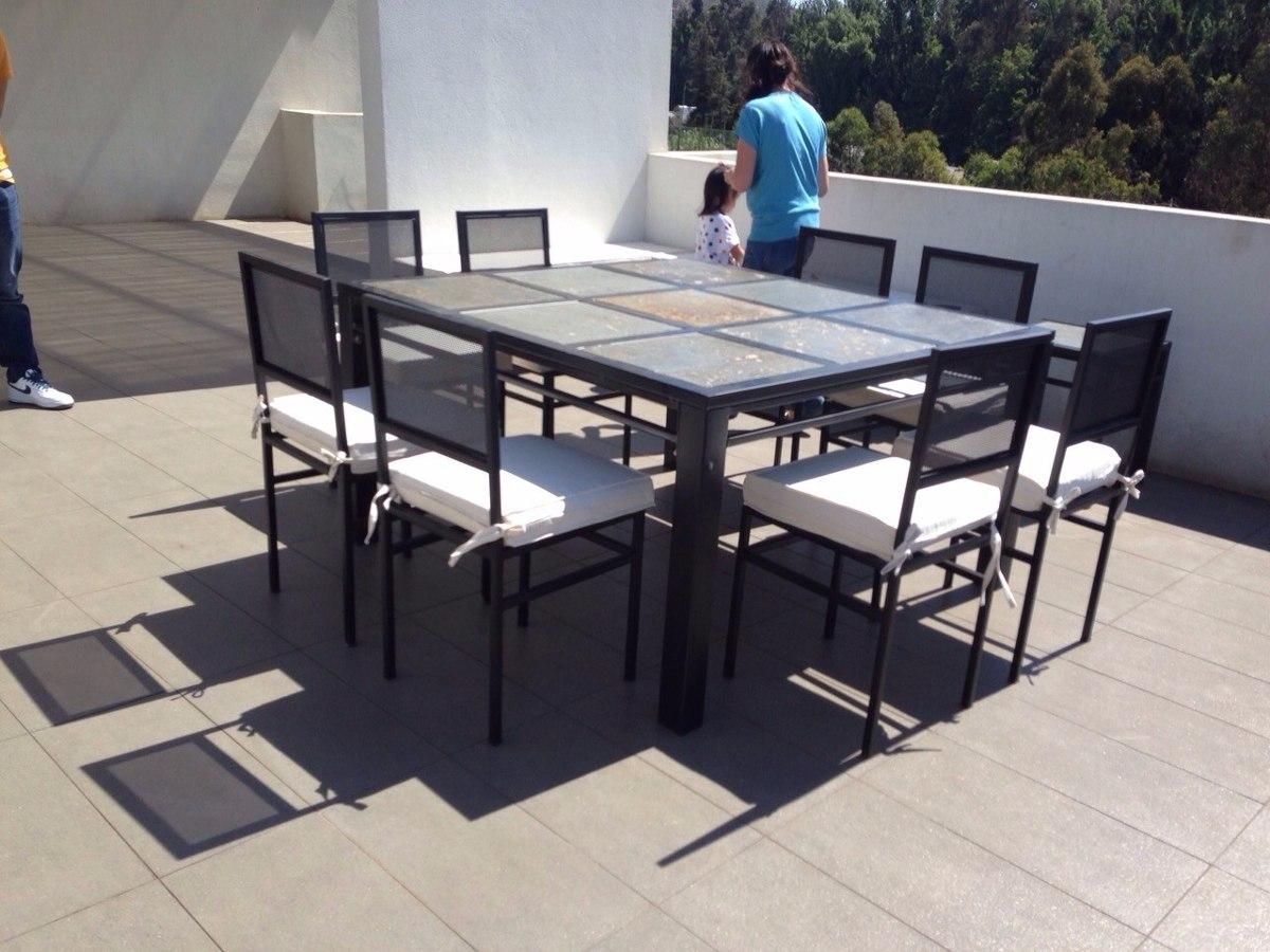 Comedor 8 Personas Cuadrado En Fierro Muebles Y Terrazas - $ 450.000 ...