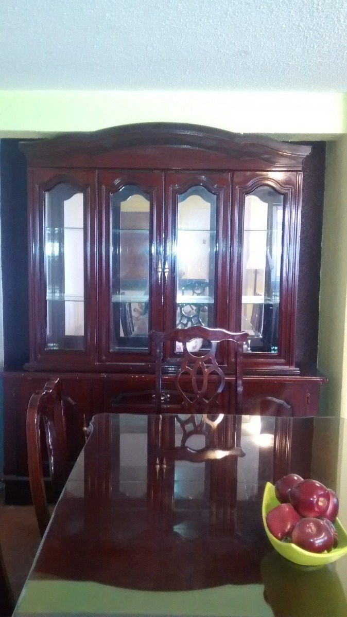 Comedor 8 sillas con vitrina 8 en mercado libre - Comedor con vitrina ...