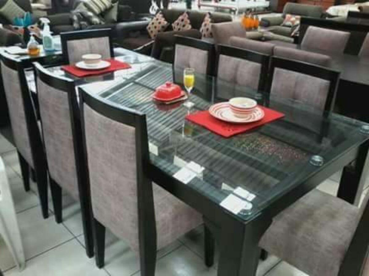 Comedor 8 sillas tapizados en acabado parafinico 1800 s for Fabricantes sillas peru