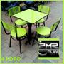 Juego De 4 Silla Karla Y Mesa Para Cafeteria Restaurante Bar