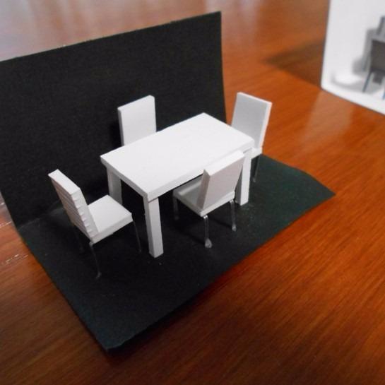 Comedor A Escala 1 50 Y 1 75 Para Maquetas Arquitect Nicas