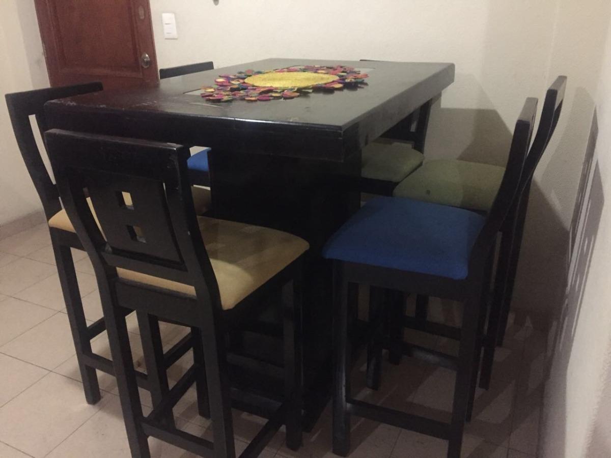 Comedor alto de 6 sillas periqueras 9 en for Sillas comedor pack 6